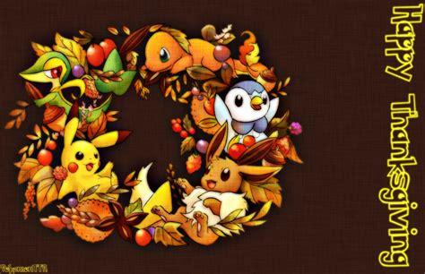Pokemon Thanksgiving Wallpaper