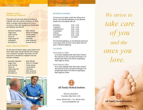 Healthcare Brochure Templates by Free Indesign Templates Brochure And Menu Designfreebies
