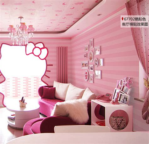 bedroom with pink walls modern purple wallpaper 14476