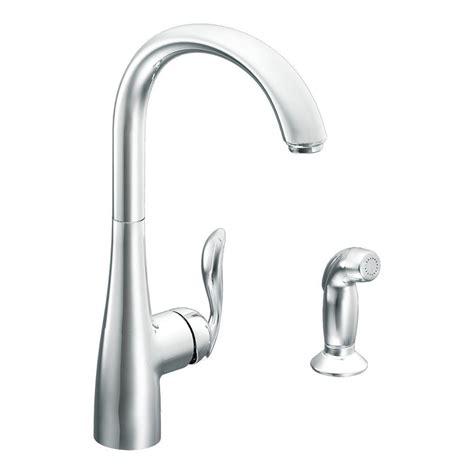 kitchen side sprayer moen arbor high arc single handle standard kitchen faucet 2543