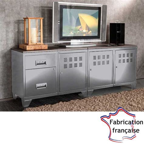 meuble tv m 233 tal alu style industrielso french deco