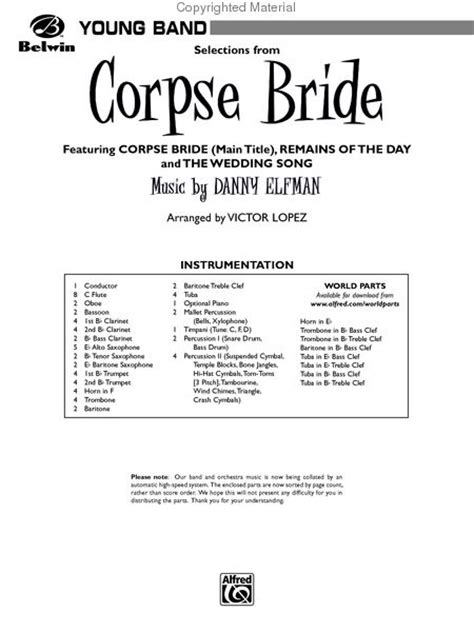 corpse tears to shed guitar chords corpse selections from sheet by danny elfman