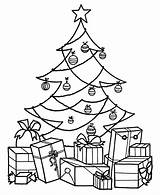 Coloring Christmas Tree Pages Printable sketch template