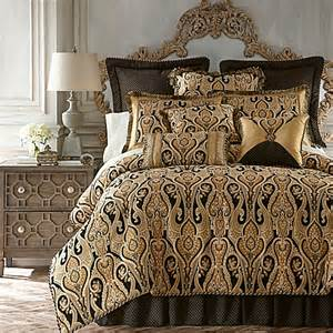 buy austin horn classics alexandria reversible comforter set in black gold from bed bath beyond