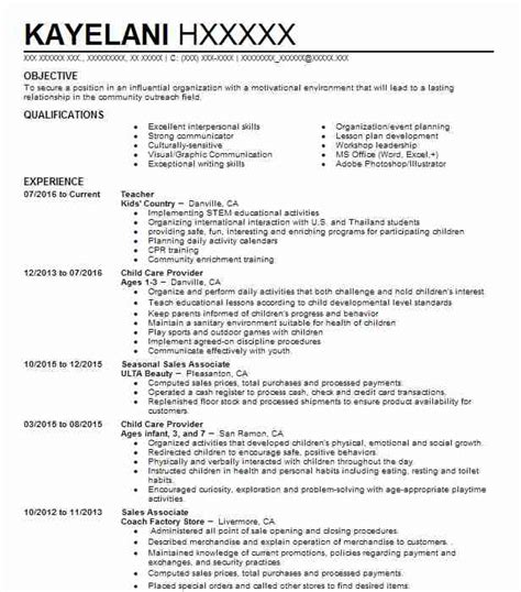 Child Care Provider Resume by Child Care Provider Resume Sle Caregiver Resumes