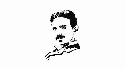 Tesla Nikola Cartoon Drawing Scientists Wallpapers Sketch