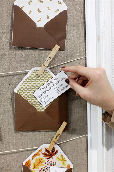 give    diy gratitude notes  envelopes