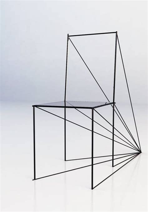 dessin de chaise en perspective chaise perspective par zigert artem esprit design