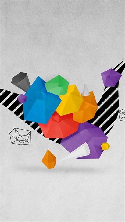 Geometric Iphone Wallpapers Abstract Origami Desktop Ipad