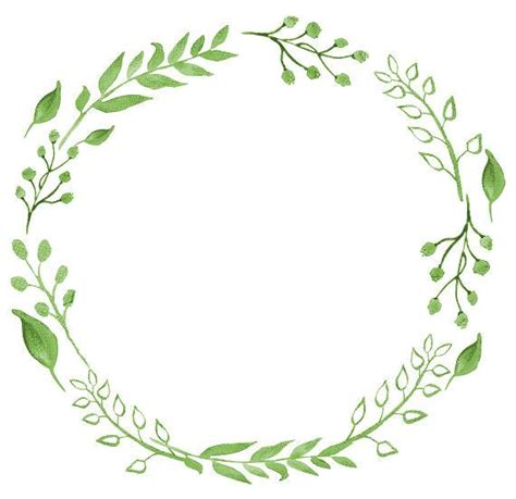 greenery clipart watercolor wreath watercolor clipart