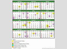 Kalender 2019 malaysia cuti umum 2 2019 2018 Calendar