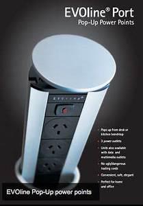 PULL POP UP ELECTRICAL PLUG SOCKET 2 USB KITCHEN WORKTOP