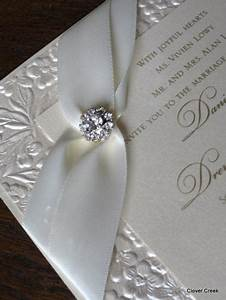 Best compilation of elegant wedding invitations with for Fancy wedding invitations with crystals
