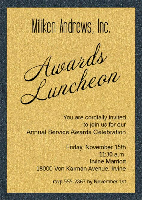 shimmery gold  onyx layered business awards invitations