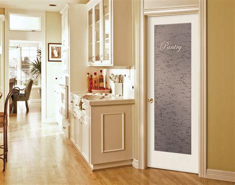Cool Single Swing White Frozzen Pantry Door With Wooden