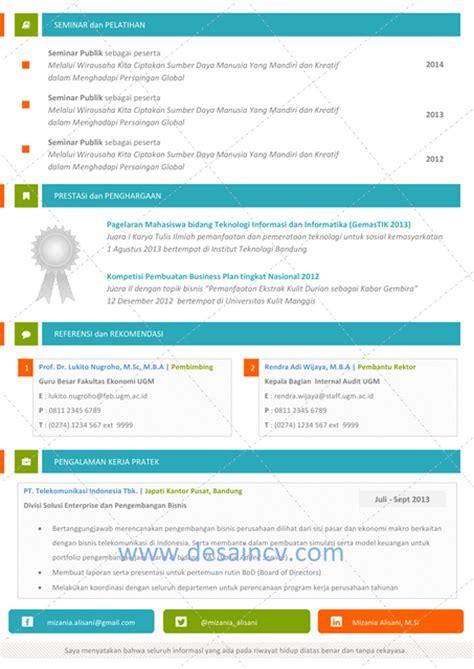 Template Resume Menarik by Desain Cv Kreatif Colorful Contoh Cv Yang Menarik