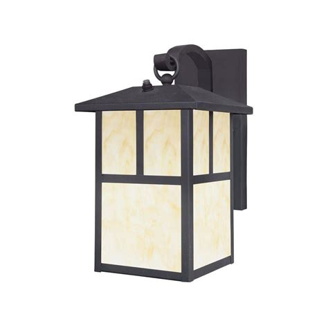westinghouse 1 light textured black steel outdoor wall lantern with dusk to dawn sensor and