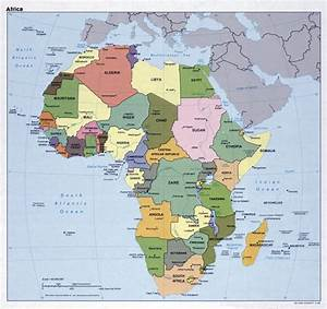 Large political map of Africa with capitals – 1989 ...