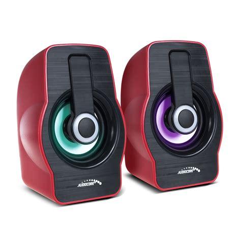Lautsprecher Led Le by 2 0 Computer Stereo Lautsprecher Mit Bunter Led
