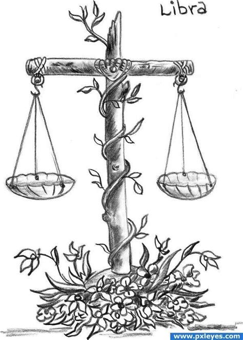 Cool idea for tattoo and awesome scales drawing | Libra tattoo, Libra scale tattoo, Scale tattoo