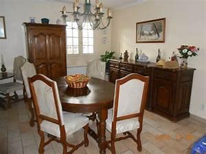 relooking d39une salle a manger rustique en chene massif a With meuble de salle a manger avec salle a manger en chene massif