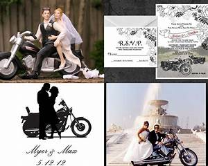 Motorcycle Based Wedding Invitation RSVP Cards
