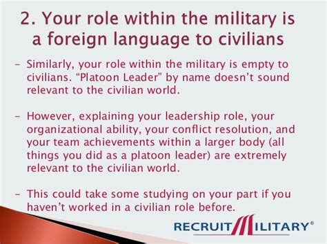 how to translate your skills to civilian language