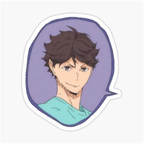 haikyuu oikawa tooru sticker by maiokoe redbubble
