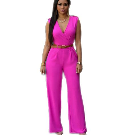 cheap plus size jumpsuits and rompers fashion rompers jumpsuit v neck solid color