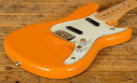 fender duo sonic capri orange  peach guitars