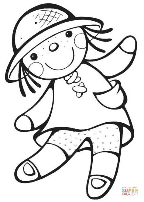 doll coloring page  printable coloring pages