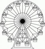 Ferris Wheel Coloring Carnival Drawing Drawings Wheels Pages Tattoo Sketch Amusement Printable Wordpress Projects Project Park Crafts Fair Colour Sheets sketch template