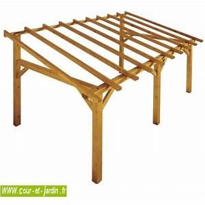 Bois De Charpente Brico Dépot : auvent bois auvent en bois charpente en kit abri ~ Melissatoandfro.com Idées de Décoration