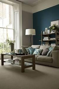 Wandfarben Ideen Wohnzimmer : die besten 25 blaue wohnzimmer ideen auf pinterest ~ Lizthompson.info Haus und Dekorationen