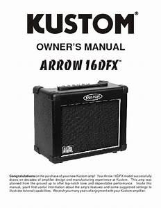 Arrow 16dfx Manuals