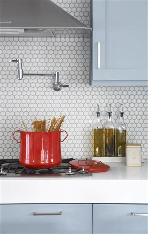 Love The Octagonal Tile Backsplash Contemporary (modern