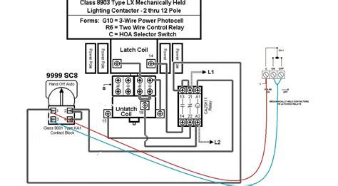 schneider electric latching contactor wiring diagrams