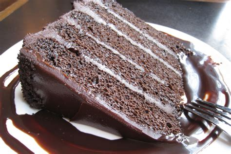 best cing food recipes chocolate cake with chocolate frosting recipe chowhound