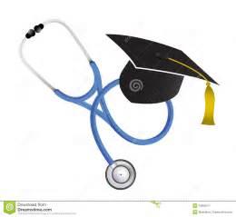 graduation cap frame graduation stethoscope illustration design royalty