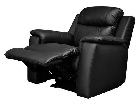 tout salon canapé fauteuil relax en cuir de vachette coloris noir evasion