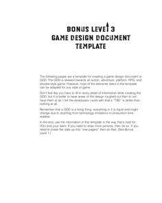 ideas  game design document template