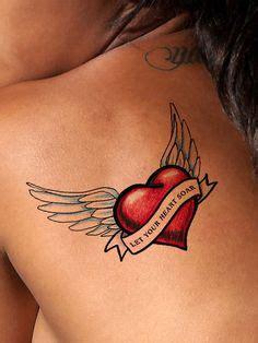 heart  angel wings tattoo angel heart tattoos