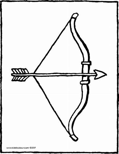 Bow Arrow Colouring Drawing Pages Kiddicolour Tag