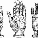 Palm Reading Clipart Coloring Clip Hands Line Pages Fortune Digital Stamp Clipground Wanelo Telling Astrology sketch template