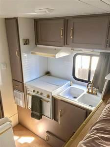 93 old travel trailer interior riverside rv retro for Truck camper interior ideas