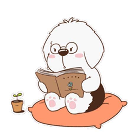super cute dog emoji gifs brings  joy  chinese