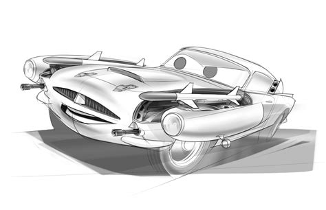 Cars Kleurplaat Finn by Frais Coloriage Cars 2 Finn Mcmissile