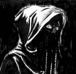 The gallery for --> Black Cloaked Figure With Red Eyes