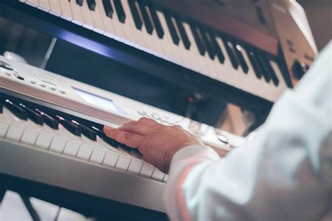 picture art man  piano keyboard person indoor