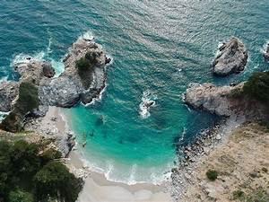 Hd, Wallpaper, Sea, Waves, Aerial, View, Of, Seashore, During